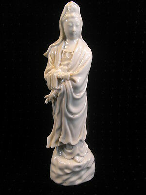 Ancienne Statue Guan Yin Deesse Guanyin Porcelaine Asiatique Chine China Goddles
