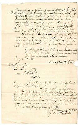 1842 Kentucky deed of Emancipation, manumission of Slave man George