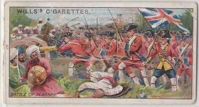 1757 Battle Of Plassey Lord Clive India 100+ Y/O Ad Trade Card