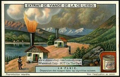 Cloud Dispersion In Swiss Vineyard Dispersion Des Nuages 1920  Yrade Ad Card