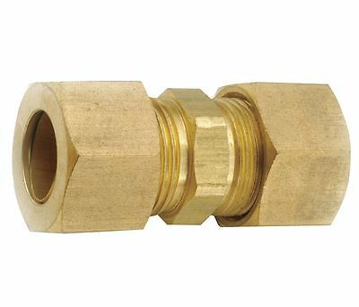 "New  Brass Bronze Tube Compression Coupling 1/2"" O.d. X 1/2"" O.d  Nos"