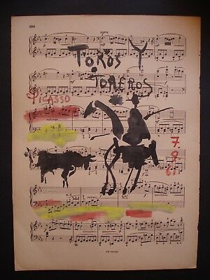 PABLO PICASSO      DRAWING Signed ON ORIGINAL PAPER OF THE 60s