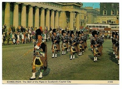 Picture Postcard - Edinburgh -The Skril Of The Pipes In Scotland's Capital City