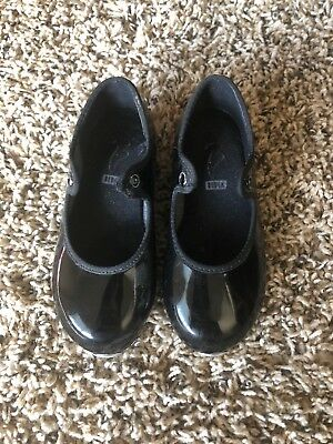 Girls Bloch Black Tap Shoes Size 7 Toddler