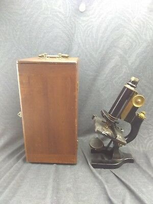 Antique Spencer Microscope With Case