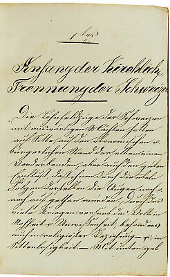 1833 Manuscript - SWISS REFORMATION  Little Known Treatise by REFORMER ZSCHOKKE