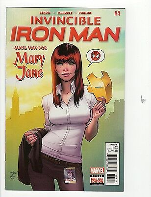 Invincible Iron Man #4 VF/NM 9.0 Mary Jane Cover