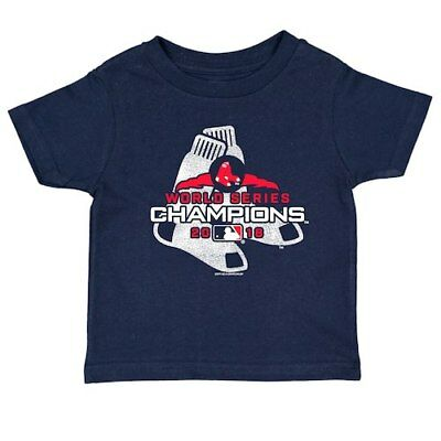 Boston Red Sox Soft as a Grape Toddler 2018 World Series Champions T-Shirt -