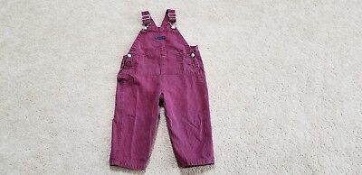Baby GAP Toddler Boys Red and Blue Checkered Overalls, Size 2 Years