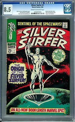 Silver Surfer #1 CGC 8.5 (C-OW) Origin of Silver Surfer