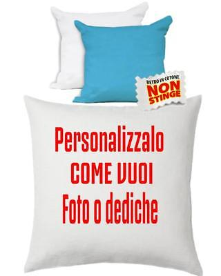 Cuscino Personalizzabile Bicolore Bianco Celeste 40x40 cm PS 10747 Gadget Person