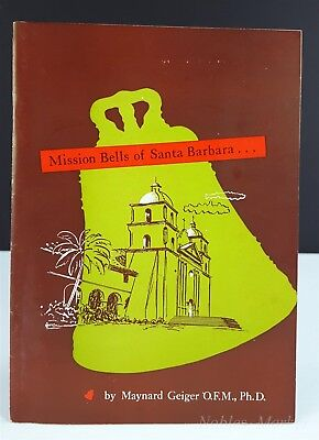 Mission Bells of Santa Barbara 26 Page Tourist Guide Booklet 1950s