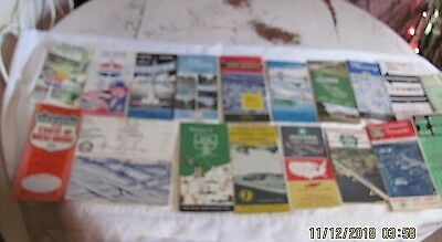 Lot of Vintage 19 Maps Toll Roads Turnpikes City Brochures Standard Oil More