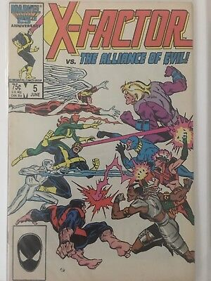 X-Factor #5 - June 1986 - MARVEL KEY ISSUE - 1st cameo APOCALYPSE