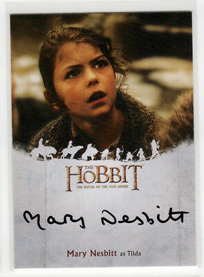 Hobbit Battle of the Five Armies - Mary Nesbitt as Tilda Autograph Auto Card MN