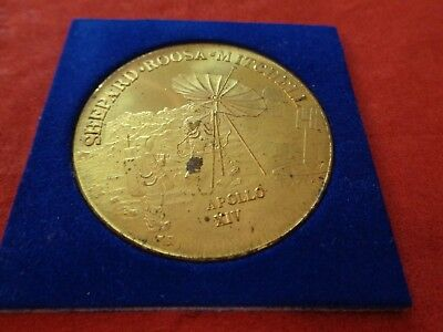 gold farbige Medaille Apollo XIV Shepard Roosa Mitchell