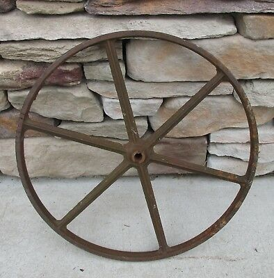Vintage Antique Primitive Steel Wagon Wheel Spoke Farm Iron Cart Farm Implement