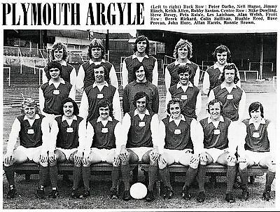 Plymouth Argyle Football Team Photo>1972-73 Season
