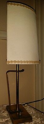 Vintage Mid Century Modern Danish Abstract Desk Table Lamp Solid Brass