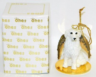 "Great Pyrenees Dog Figurine Ornament Angel 2"" Miniature Figure Tiny Ones 1996"