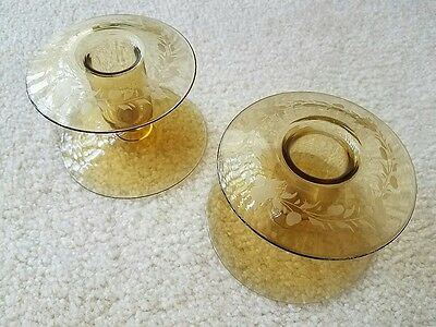Lustre Glass Candle Holders - Durand ?