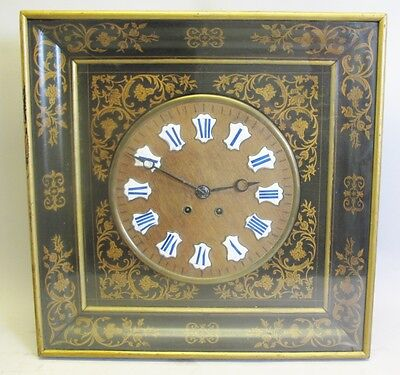 Very Large & Heavily Inlaid 19th C. FRENCH BAKER'S CLOCK  c. 1870s  antique