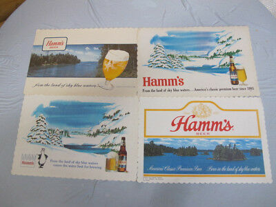 Vintage Hamm's  Beer Placemats-From The Land Of Sky Blue Waters