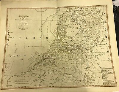 Hand Colored 7 United Provinces & Dependencies Engraving 1794 Bowles & Carver