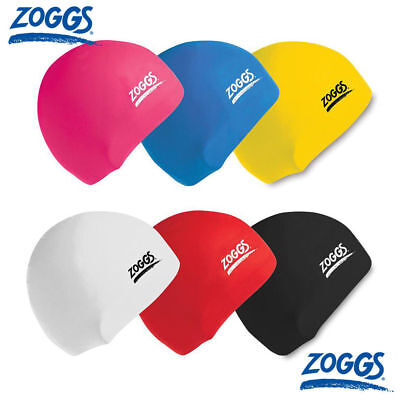 Zoggs Silicone Swimming Cap Adult Unisex Black/White/Yellow/Royal/Red/Violet
