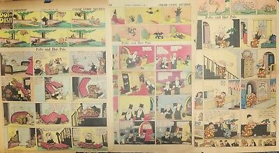 7 POLLY AND HER PALS pages by Cliff Sterrett from 1927 to 1929