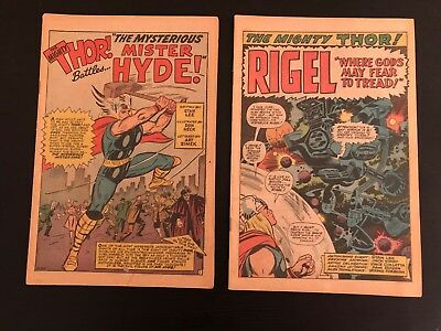 JOURNEY INTO MYSTERY #99 & THOR 132 1st app Ego & Mr Hyde - Silver Age No Covers