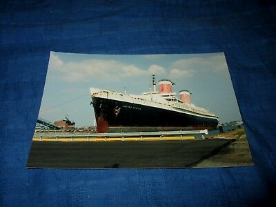SS UNITED STATES-AT DOCK-PHILADELPHIA ?-VINTAGE 1990s ERA PHOTO