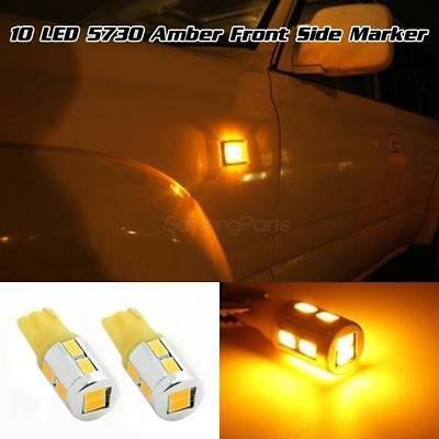 Amber High Power 5730-SMD Turn Signal Front Side Marker 450LM 194 168 2825 Light