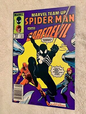 MARVEL TEAM-UP #141 NM+ 9.6, Mark Jewelers, Newsstand 1ST BLACK SUIT Spider-man