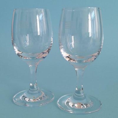 Lot of 2  US Airways Cordial Glass Glasses - Airlines Aviation