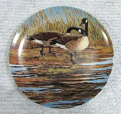 Canada Goose Courtship Donald Pentz Art 1986 Dominion Collector Plate FREE S/H