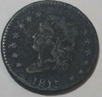 1813 Classic Head U.S. Large Cent. (lot#1) VG-F details, dark and porous.