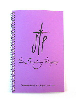 Smashing Pumpkins Sacred & Profane Tour 2000 Band & Crew Itinerary Book