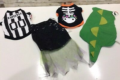 Dog Costumes  Lot of 4 Size Small 18 Lbs Rufferee  Dragon  Witch  Skeleton  NEW