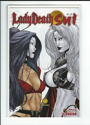 LADY DEATH SHI Preview Face Off Ltd to 1500 VF-NM Avatar Press