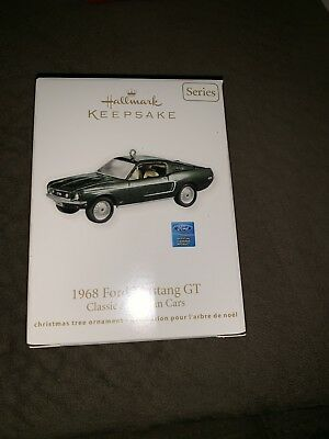 2011 Hallmark Keepsake Ornament 1968 Ford Mustang GT New NIB Old Stock