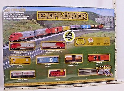 Bachmann Explorer 8 Piece N Scale Deluxe Starter Train Set Boxed Sealed Sharp!