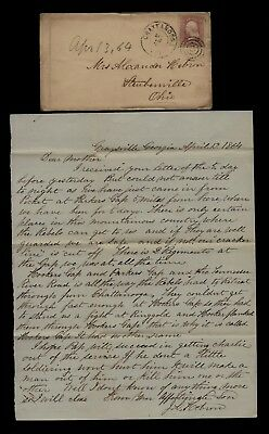 2nd Ohio Infantry CIVIL WAR LETTER - Rebels Retreat from Chattanooga CONTENT !