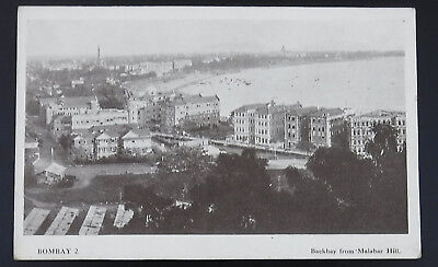 Postcard : India, Bombay, Backbay from Malabar Hill : Red Cross Issue
