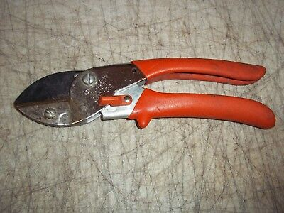 """VNTG SEYMOUR SMITH & SON No. 19T CUTTER ANVIL PRUNING SHEARS SNIPS 8"""" L CUTTING"""