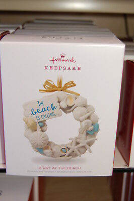 Hallmark 2018 A Day at the Beach Ornament shells beach is calling