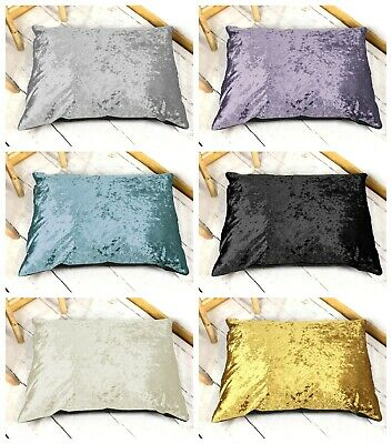 Luxury Crushed Velvet Dog Bed Shimmer Glam Cushion Pet Puppy Duvet - All Sizes!