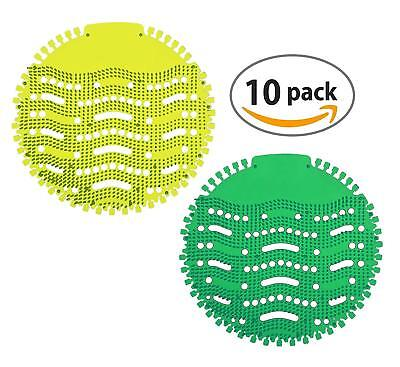 Fresh Urinal Screen & Deodorizer (10-Pack) with 2 Scents (Apple & Lemon)