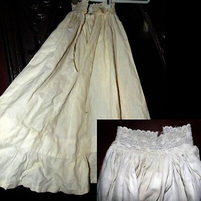 Antique 1800s Victorian Embroidered Ornate Romantic Dress Doll Petticoat as is
