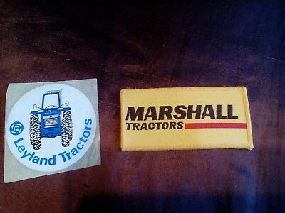Marshall tractors sew on badge and leyland tractors sticker
